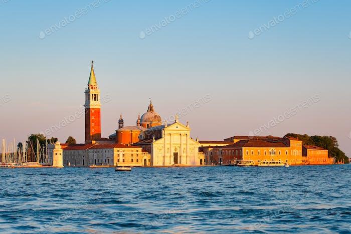 Basilica of San Giorgio Maggiore on a small island