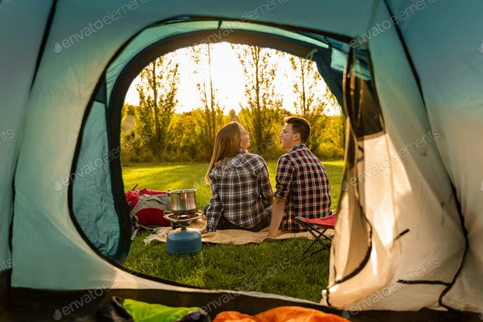 Campingvormittags
