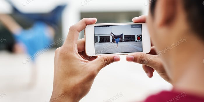 Breakdance Freestyle Hip-Hop Streetdance Teenager Concept