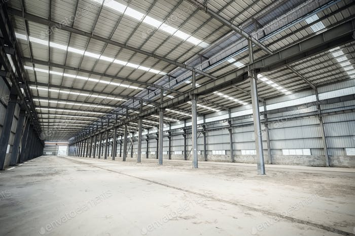 empty steel structure workshop