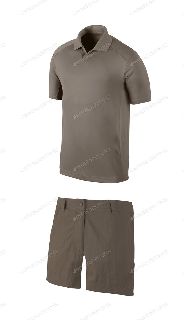 Shirt and shorts isolated
