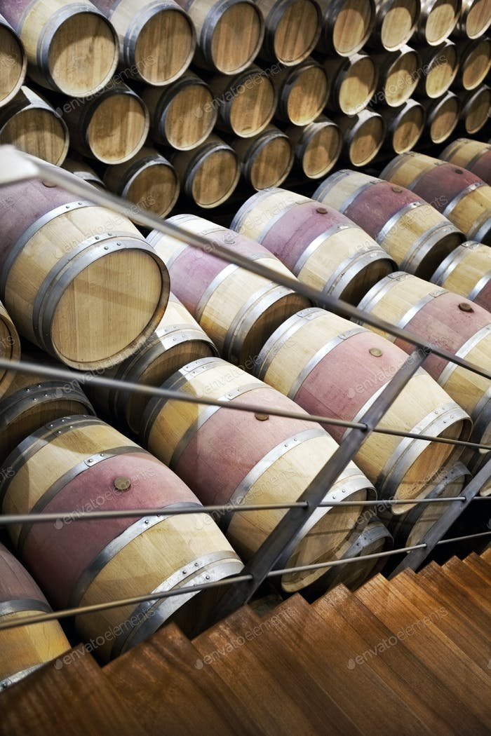 Inside a French winery