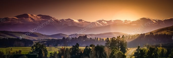 New Zealand Alps panorama