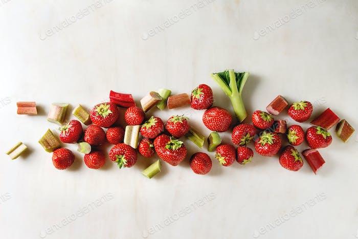 Strawberries and rhubarb