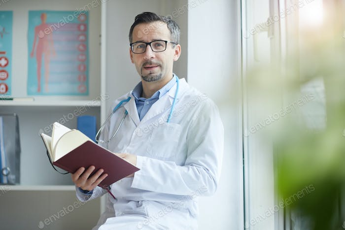 Doctor checking his deals