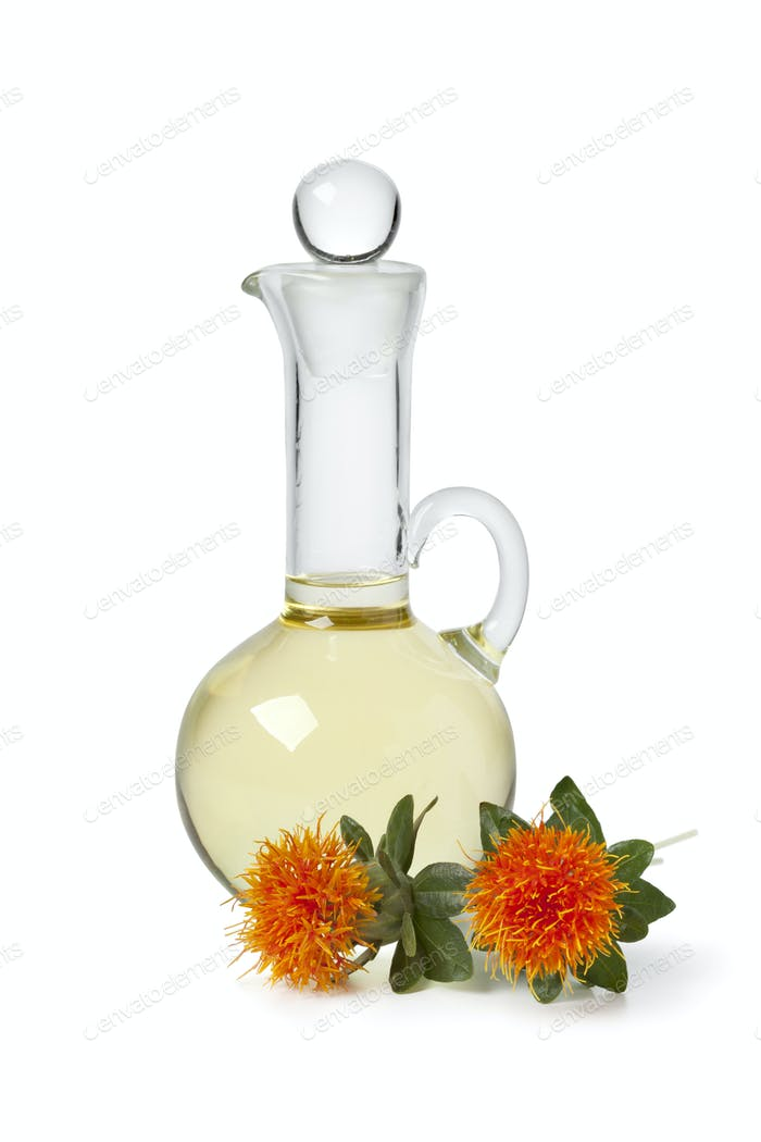 Bottle with Safflower oil