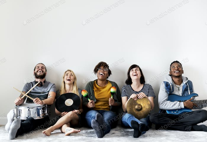 People together enjoying music