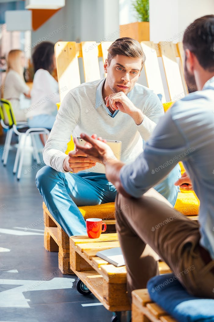 Conversación de negocios.