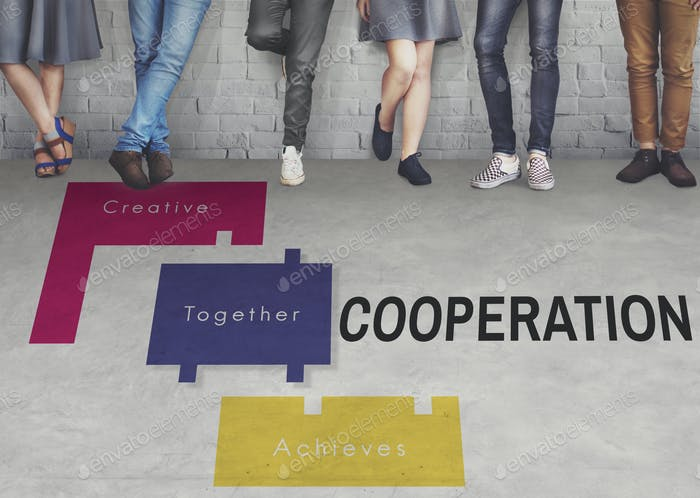 Achievement Teamwork Creative Together Collaboration Graphic Con