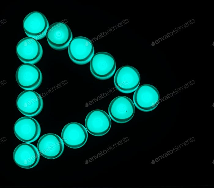 Green lights play button icon
