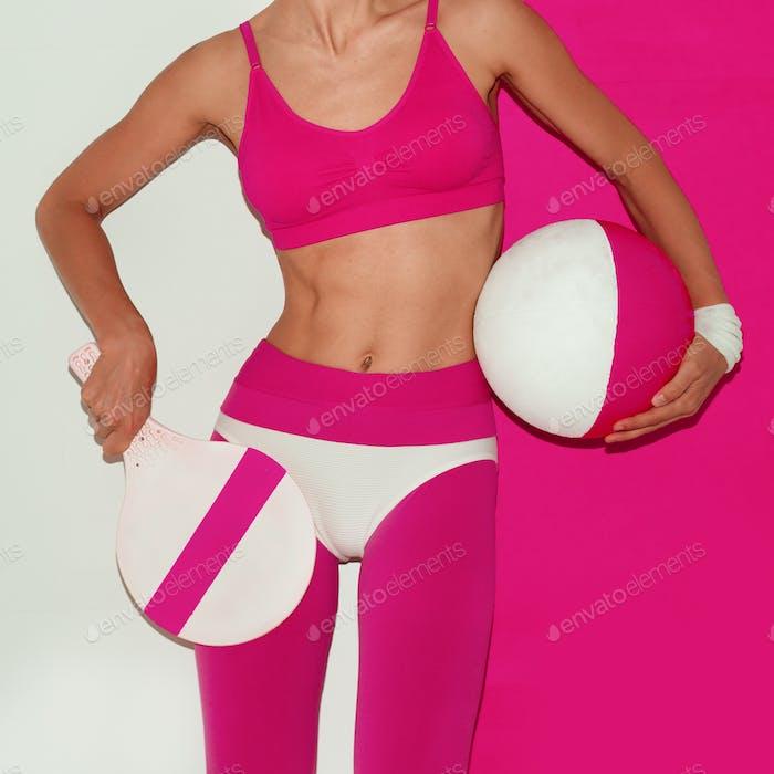Minimal pop art beach sports fashion Lady