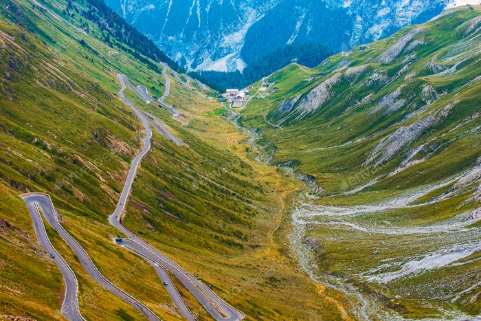 Stelvio Mountain Pass in Italy