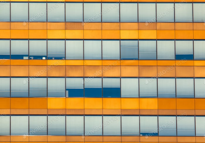Orange Office Window Background