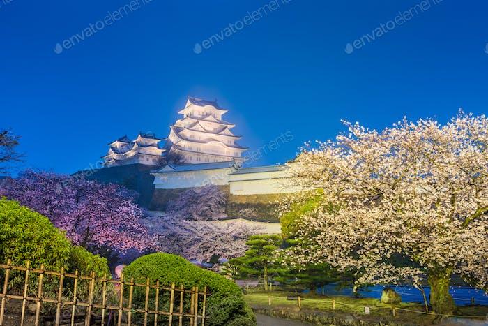 Himeji, Japan auf der Burg Himeji im Frühling