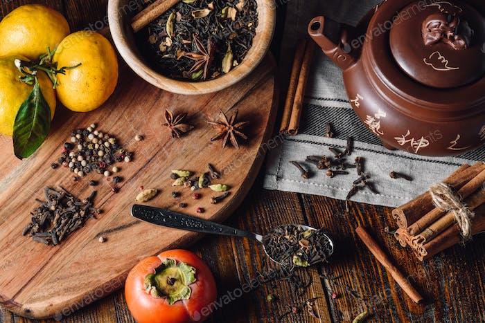 Zutaten für Masala Chai