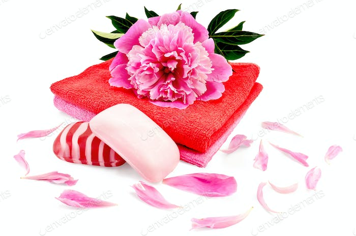 Soap with a towel and a pion
