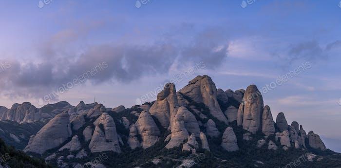 Panorama of Montserrat Mountains