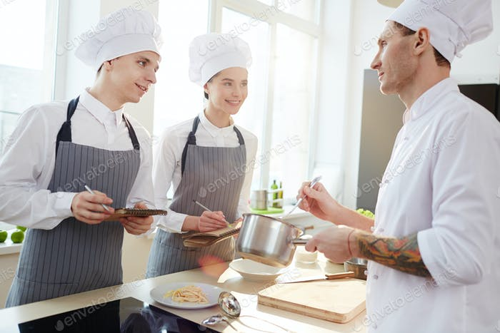 Advises from professional chef