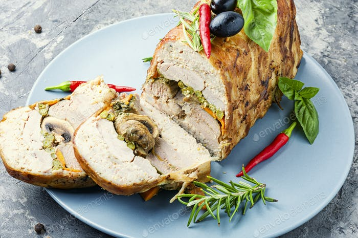 Turkey meat terrine