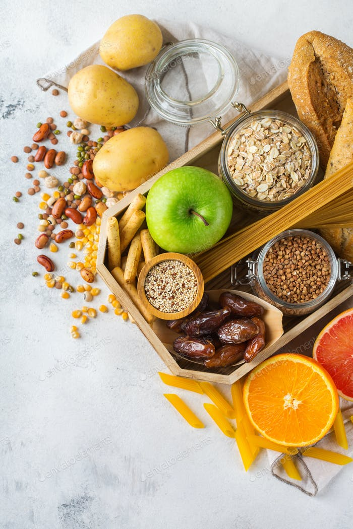 Gluten free food, healthy eating dieting concept