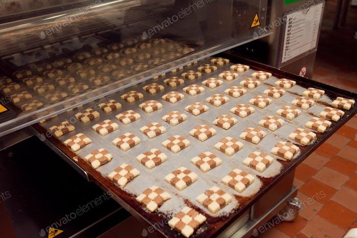 Kekse, die Maschine in der Fabrik her