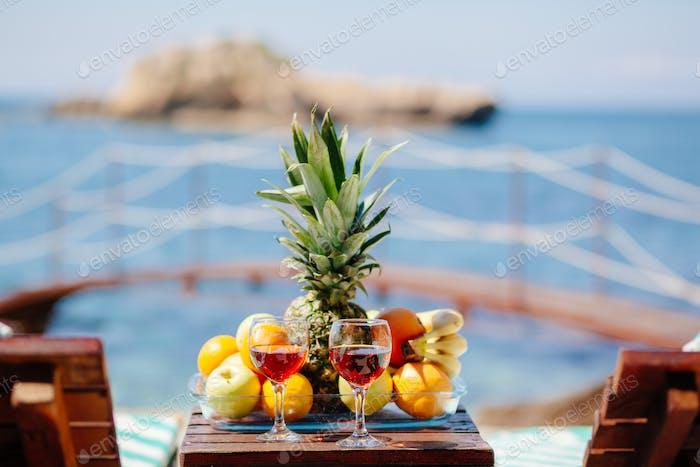 summer picnic on beach