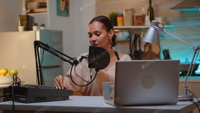 Aufnahme von Ton im Heimstudio