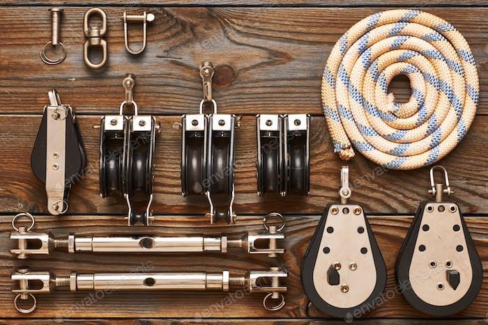Segelyacht Rigging Ausrüstung