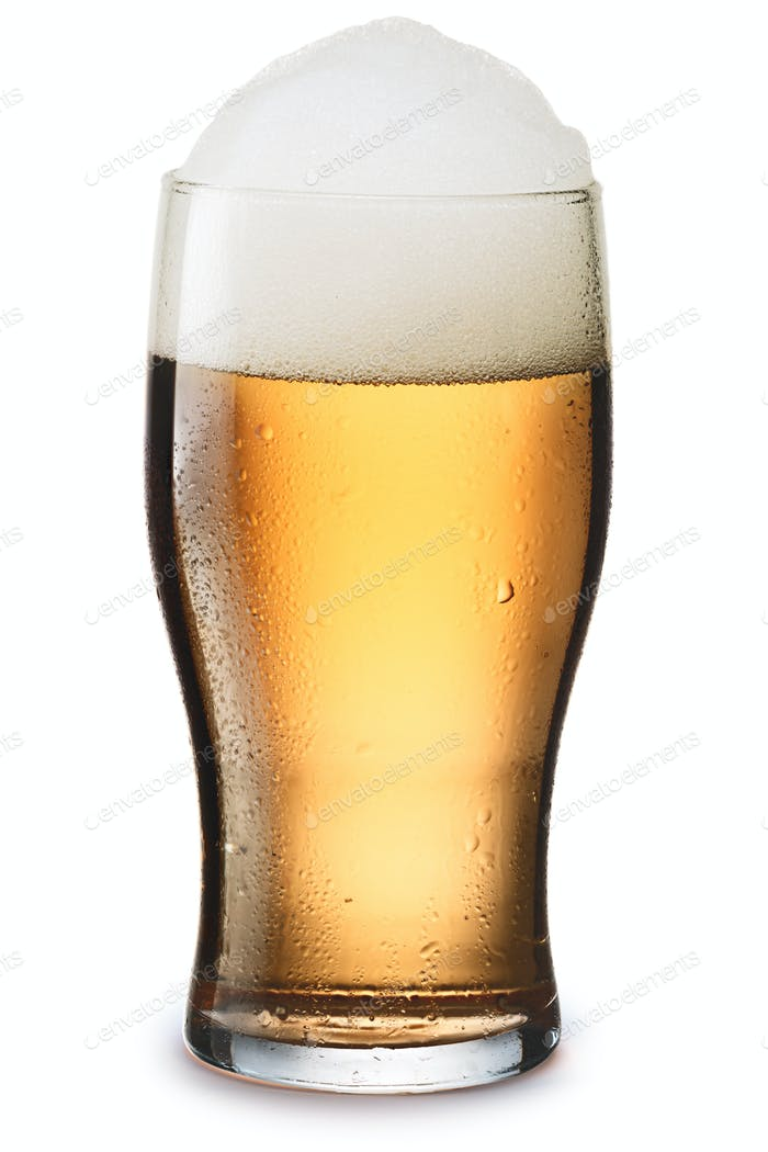 Mosit glass of light beer