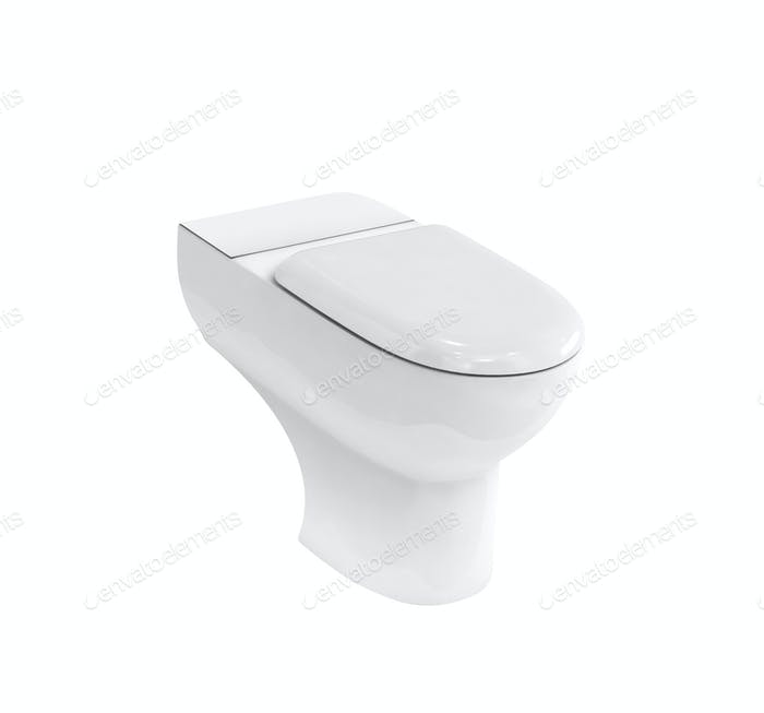 New toilet bowl isolated on white background