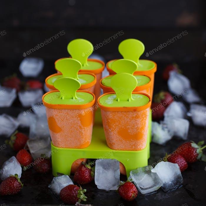 Формы для пластикового мороженого на палочке