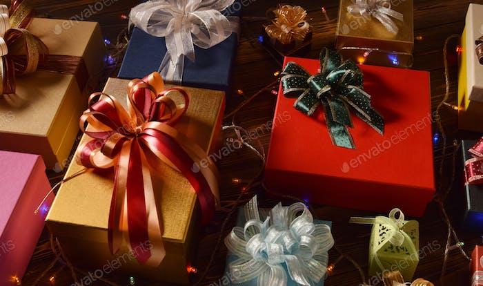 Mischung aus Geschenkboxen