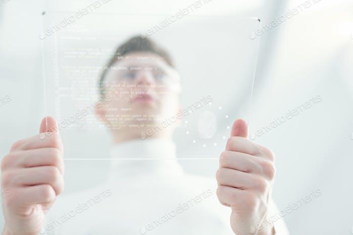 Processing verification with fingerprint
