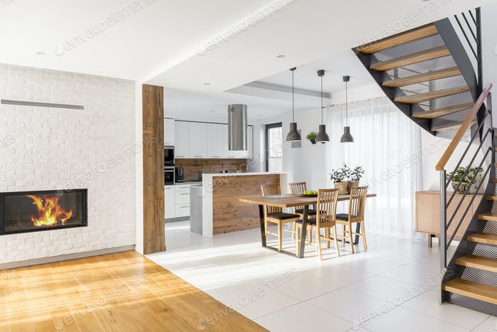 Modern luxury open plan apartment