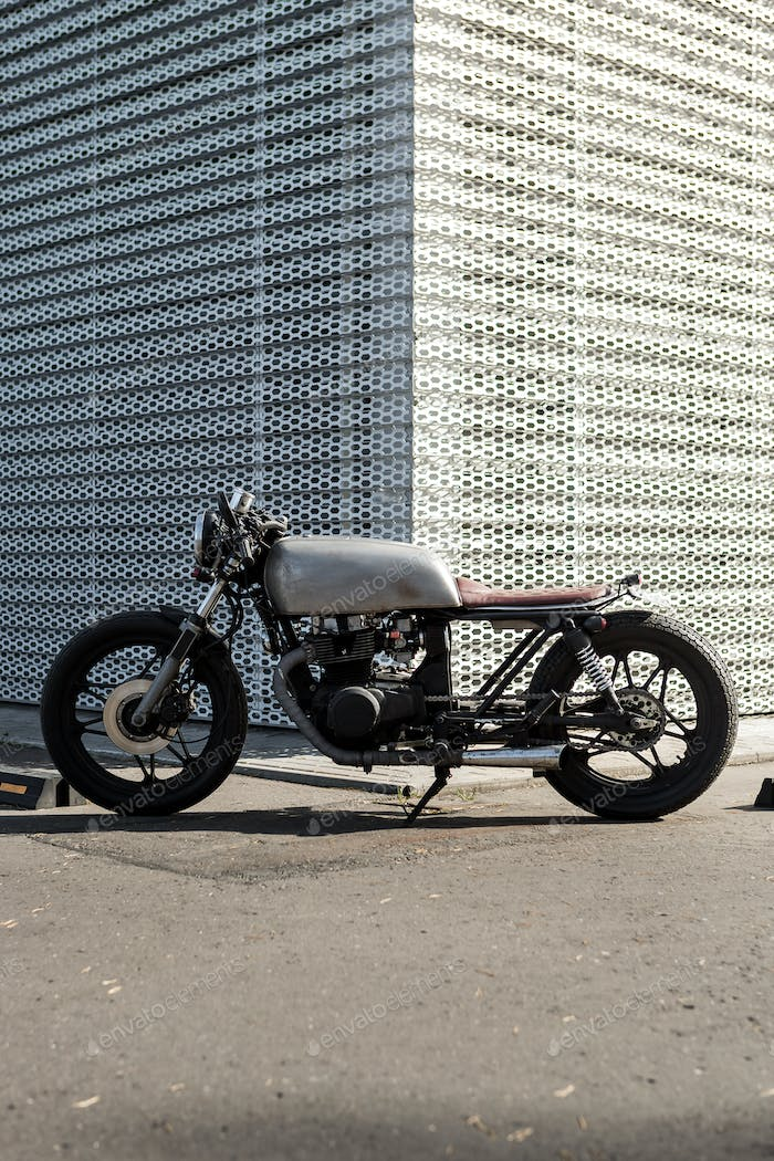 Vintage motorcycle cafe racer style.