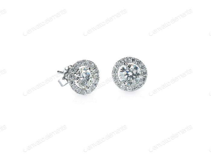 Beautiful Halo Diamond Stud earrings
