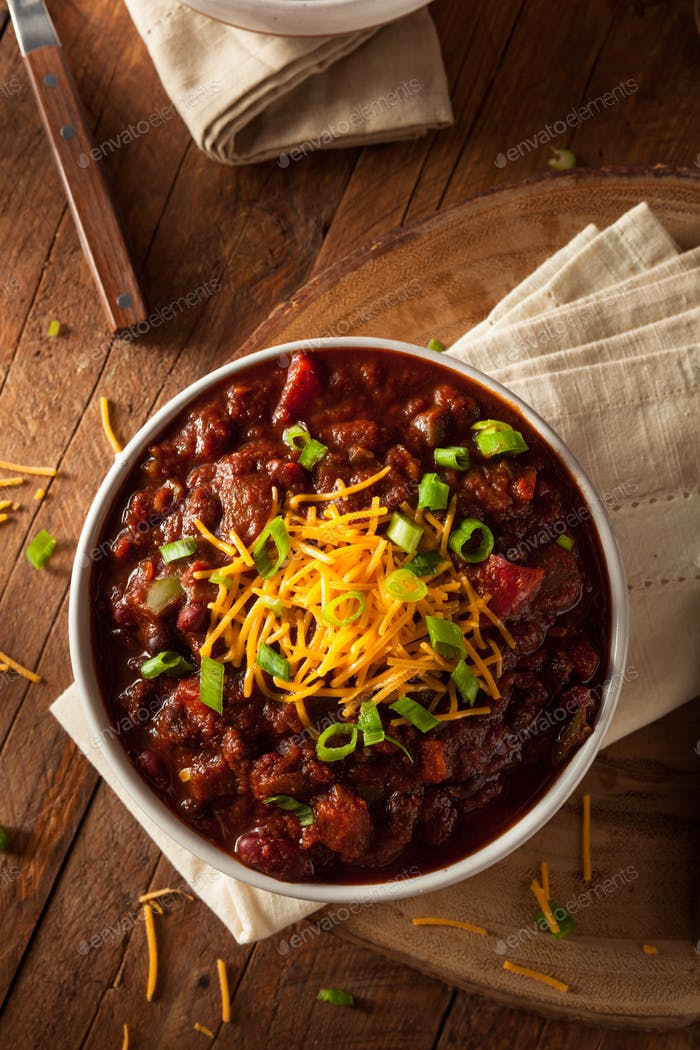 Homemade Organic Vegetarian Chili