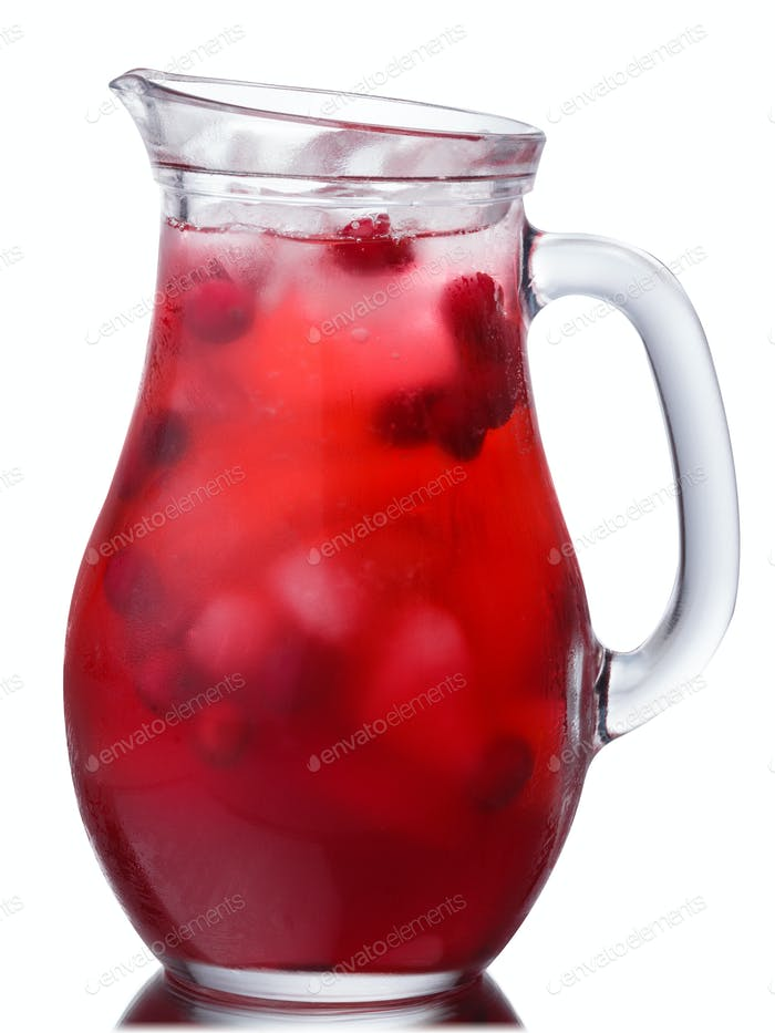 Iced cranberry drink pitcher, paths