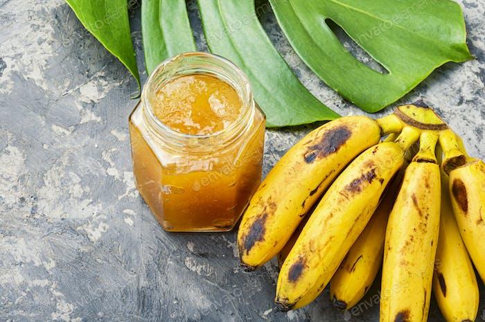 Tasty banana jam