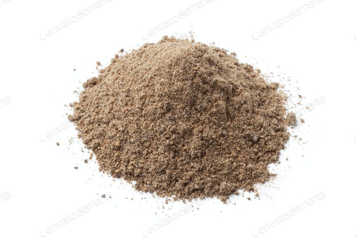 Heap of dried Nutmeg powder