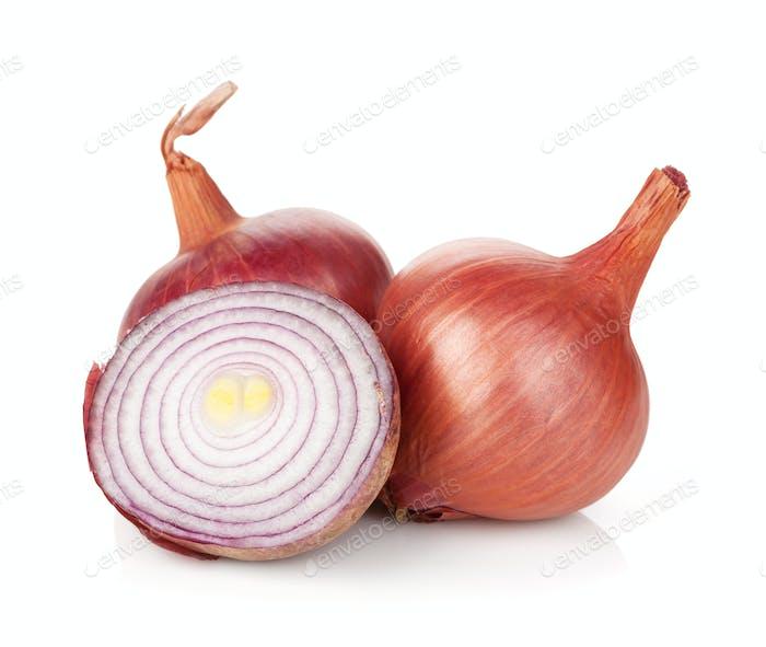 Fresh ripe red onion