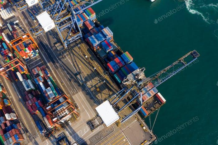 Kwai Tsing, Hong Kong, 14 February 2019:- Kwai Tsing Container Terminals