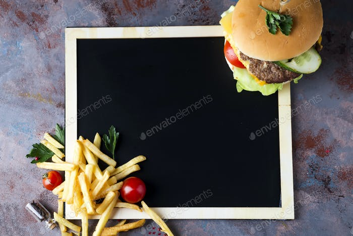 Fresh and juicy hamburger