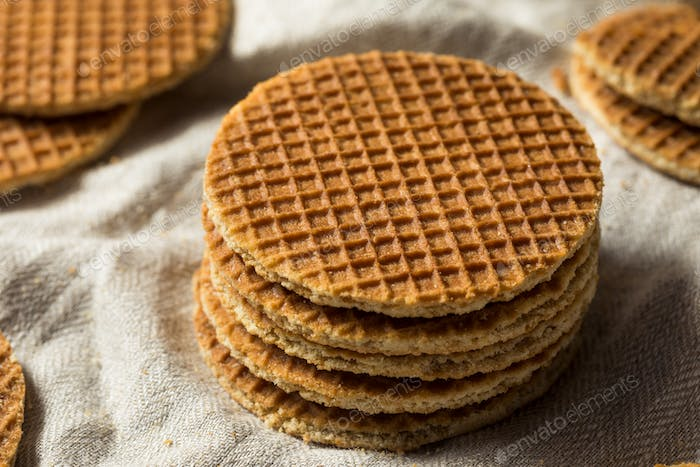 Homemade Dutch Stroopwafles with Honey