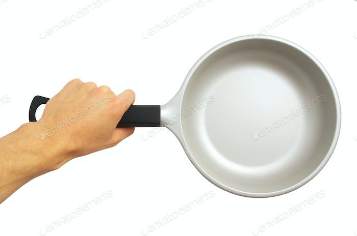 Isolated frying pan