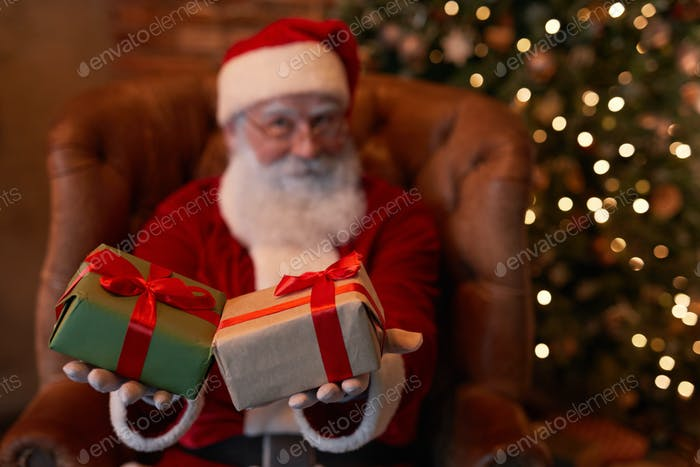 Santa Giving Gifts To You