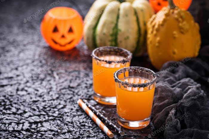 Halloween pumpkin orange cocktails