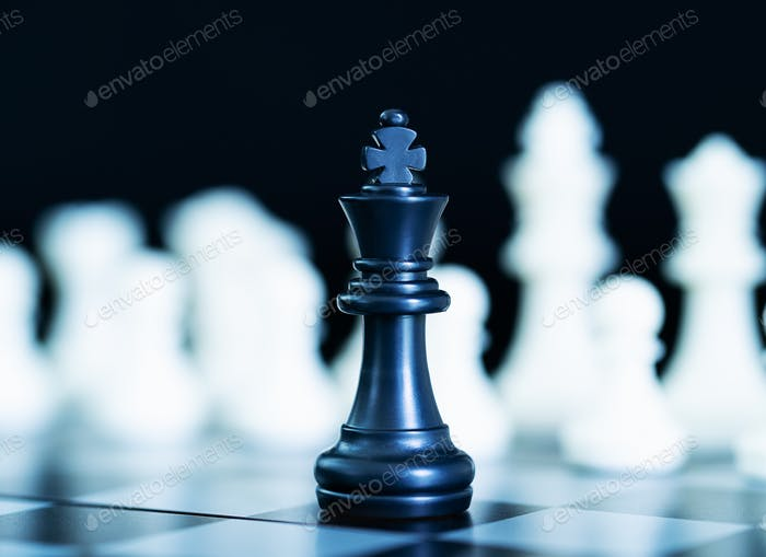 Close up chess pieces on chessboard-7