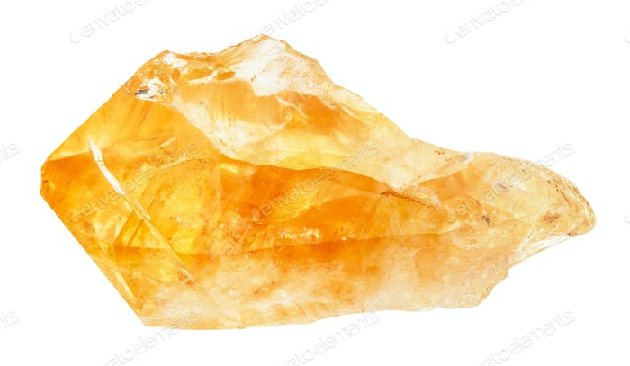 Rohkristall von Citrin Edelstein isoliert