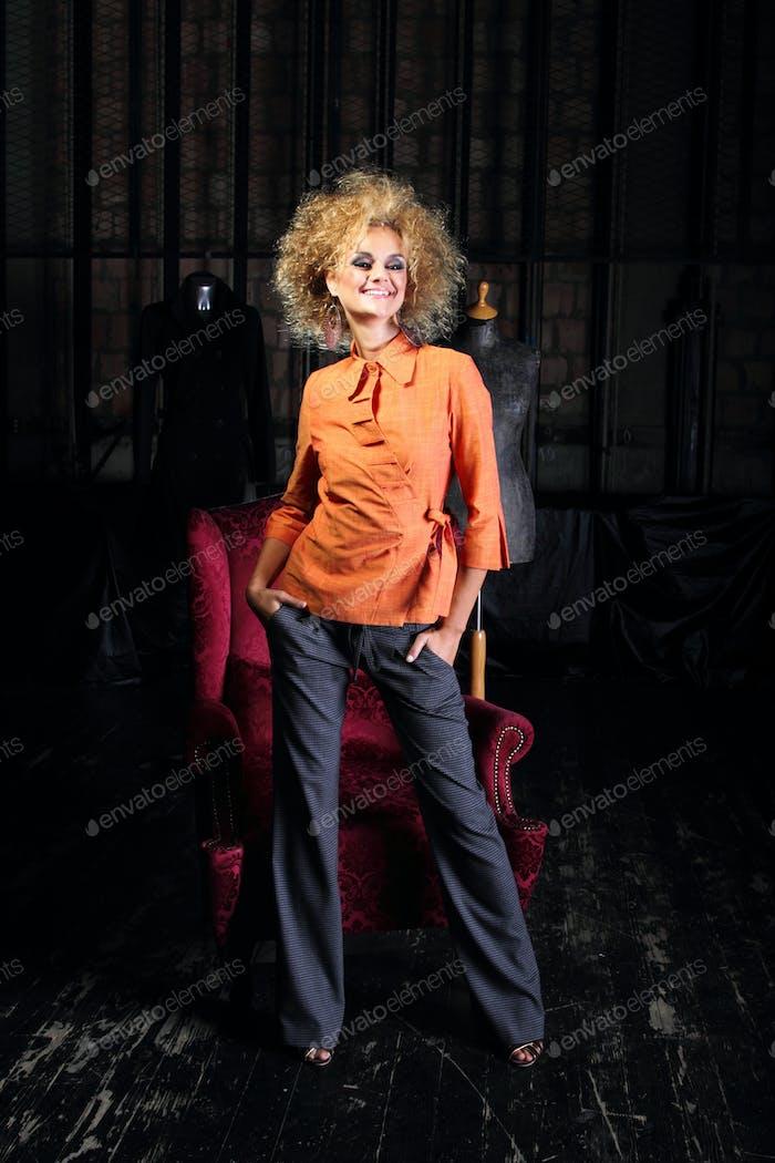 Beautiful and sexy fashion model